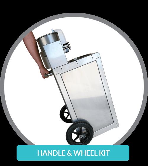 Wheel kit for wash cart