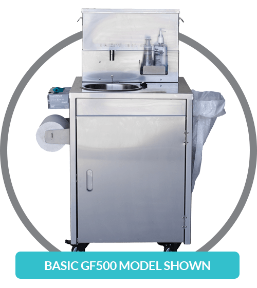 Sanitation station. Hand wash sink for sale. Portable hand washing sink for schools, construction, retail, and restaurants. Mobile sink & hand wash station Canada and USA.